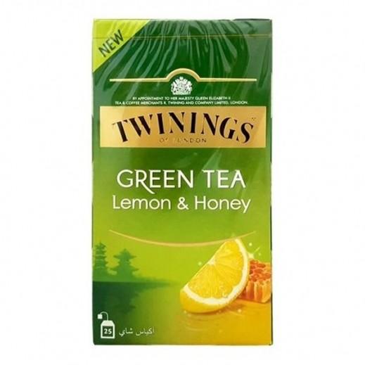تويننجز - شاي أخضر بنكهة الليمون والعسل 25 كيس