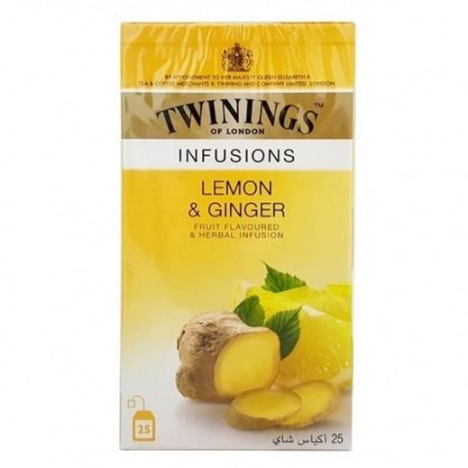 تويننجز – شاي ليمون وزنجبيل 25 كيس