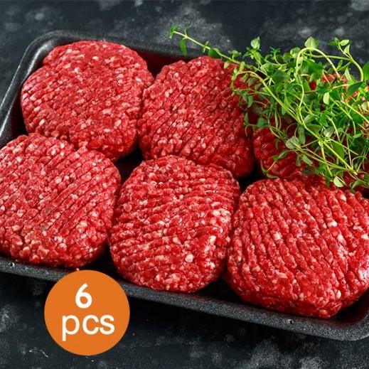 برجر اللحم البقري الأمريكي 1.350 كجم (6 قطع)