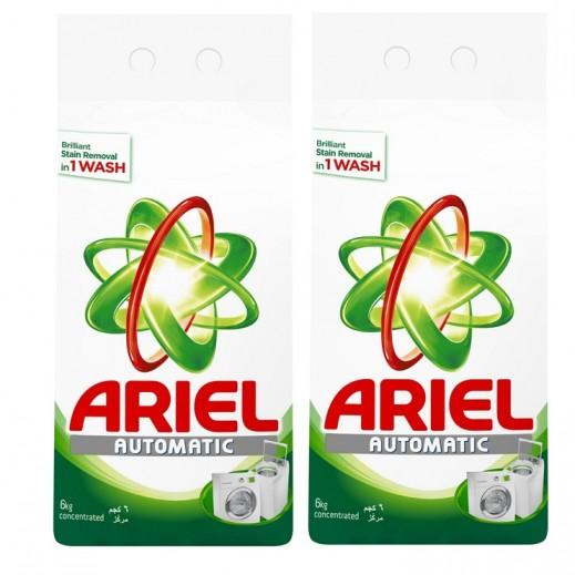 """آريال – مسحوق الغسيل الأخضر للغسالات الأوتوماتيك """" عطر أصلي """" 2 × 6 كجم - أسعار الجملة"""