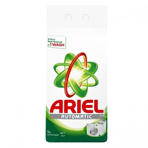 """آريال – مسحوق الغسيل الأخضر للغسالات الأوتوماتيك """" عطر أصلي """" 6 كجم"""