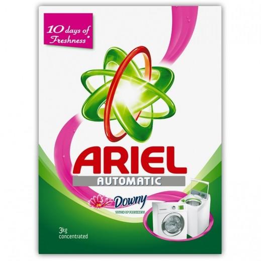 """آريال – مسحوق الغسيل الأخضر للغسالات الأوتوماتيك """" لمسة داوني """" 3 كجم"""