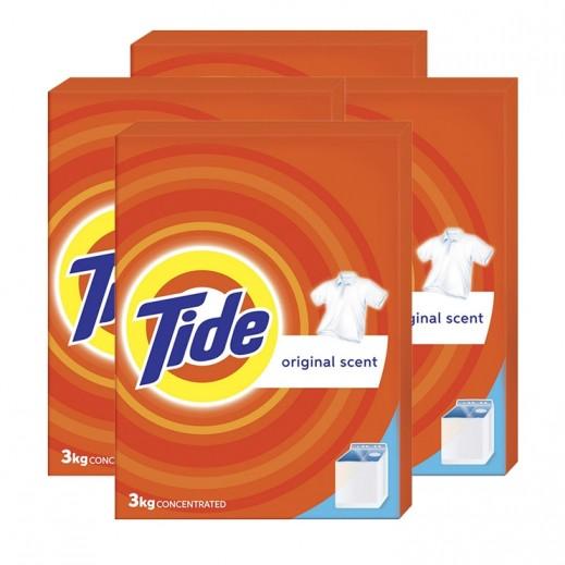 تايد - مسحوق الغسيل العطر الأصلي للغسالات العادية 3 كجم ( 4 حبة ) – أسعار الجملة