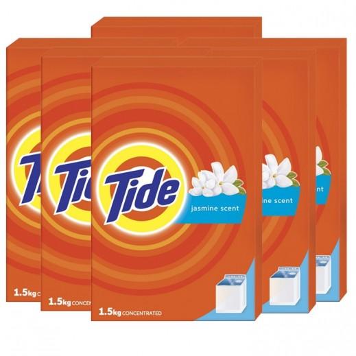 تايد - مسحوق الغسيل بالياسمين للغسالات العادية 1.5 كجم ( 6 حبة ) – أسعار الجملة