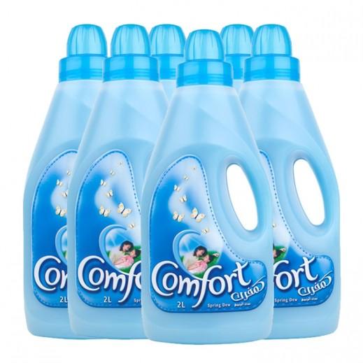 كومفورت – منعم الأقمشة الأزرق ندى الربيع 1 لتر × 6 حبة - عرض التوفير