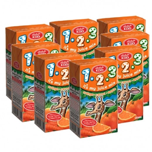 كي دي دي - عصير البرتقال 125 مل (8  حبة)