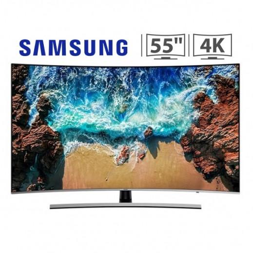 """سامسونج – تلفزيون 55"""" شاشة مقوسة ذكي فئة 8 UHD 4K  - يتم التوصيل بواسطة AL ANDALUS TRADING COMPANY"""
