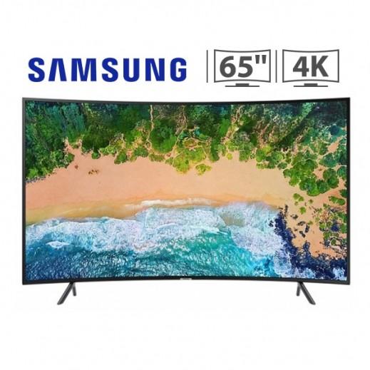 """سامسونج – تلفزيون 65"""" شاشة مقوسة ذكي فئة 7 UHD 4K - يتم التوصيل بواسطة AL ANDALUS TRADING COMPANY"""