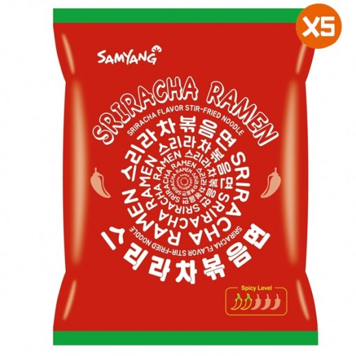 ساميانج – شعيرية رامن بصلصة سريراتشا الحارة 5×135جم