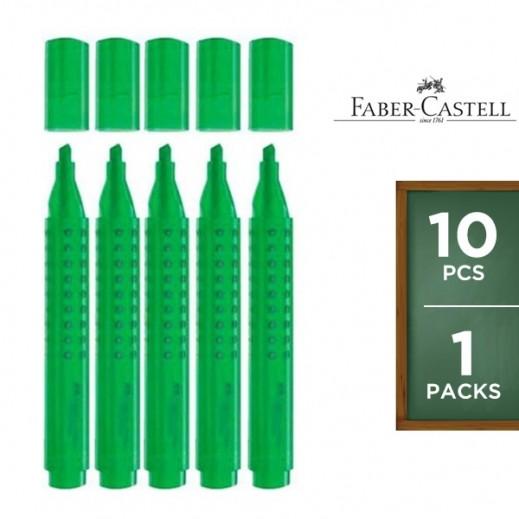 فابر كاستل – قلم إظهار بمسكة مريحة – أخضر (10 أقلام)