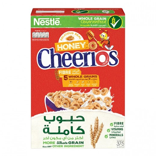تشيريوس– حلقات الحبوب الكاملة المحمصة بالعسل 375 جم