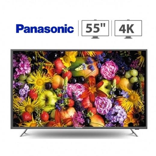 باناسونيك - تلفزيون ذكي 55 بوصة 4K UHD LED – أسود - يتم التوصيل بواسطة  AL-YOUSIFI CO.