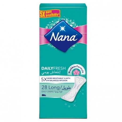 """نانا - فوط صحية """"الإنتعاش اليومي"""" حجم عادي  28 حبة"""