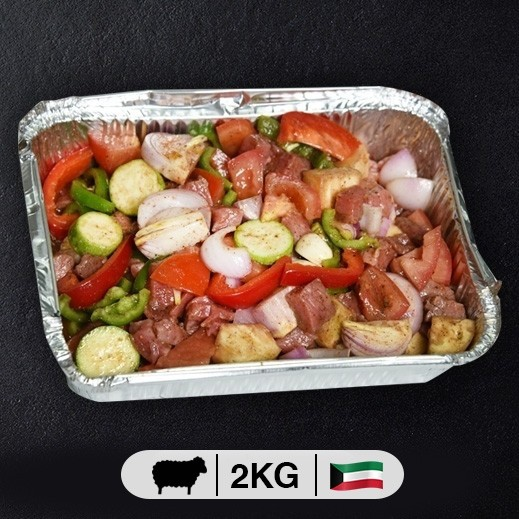 لحم غنم كويتي مع خضروات (طبق 2 كجم تقريباً) - يتم التوصيل بواسطة  عمل المتحدة العالمية خلال4  ساعات