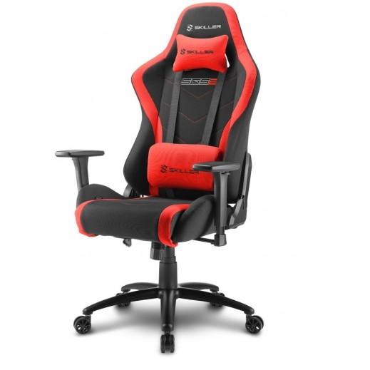"""شاركون – كرسي ألعاب الفيديو """"كلاس 4"""" ثلاثي الأبعاد مع مسند ذراع 60 مم – أسود وأحمر - يتم التوصيل بواسطة شركة توصيل خلال يوم العمل التالي"""