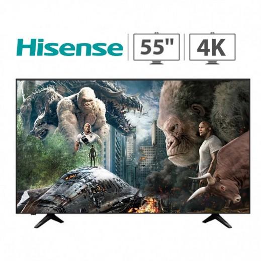 هايسنس – تلفزيون ذكي 55 بوصة UHD LED – أسود - يتم التوصيل بواسطة AL ANDALUS