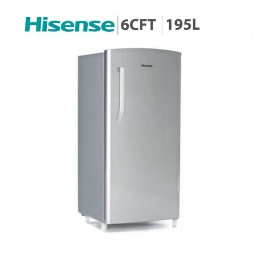 هايسينس – ثلاجة باب واحد بحجم 6 قدم / 195 لتر – فضي - يتم التوصيل بواسطة AL ANDALUS TRADING COMPANY
