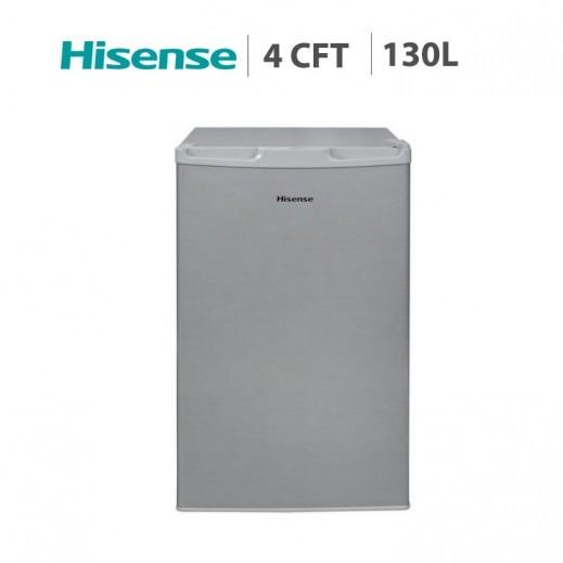 هايسينس – ثلاجة باب واحد بحجم 4 قدم / 130 لتر – فضي - يتم التوصيل بواسطة AL ANDALUS TRADING COMPANY
