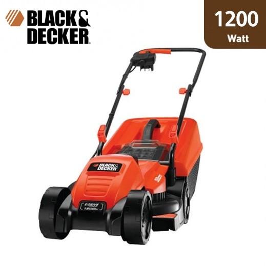 بلاك أند ديكر – ماكينة قص العشب الكهربائية 1200 واط – برتقالي - يتم التوصيل بواسطة Market Vision Trading