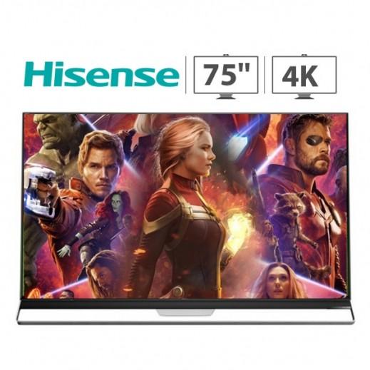 هايسنس – تلفزيون ذكي 75 بوصة ULED 4K HDR LED – أسود - يتم التوصيل بواسطة AL ANDALUS TRADING COMPANY