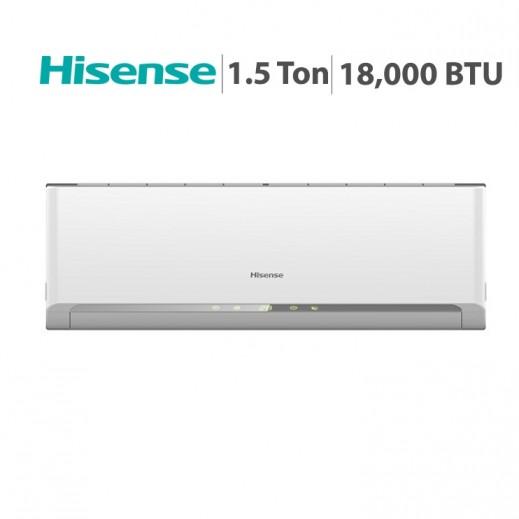 هايسينس –  مكيف هواء سبليت  1.5 طن 18,000 BTU – أبيض  - يتم التوصيل بواسطة AL ANDALUS