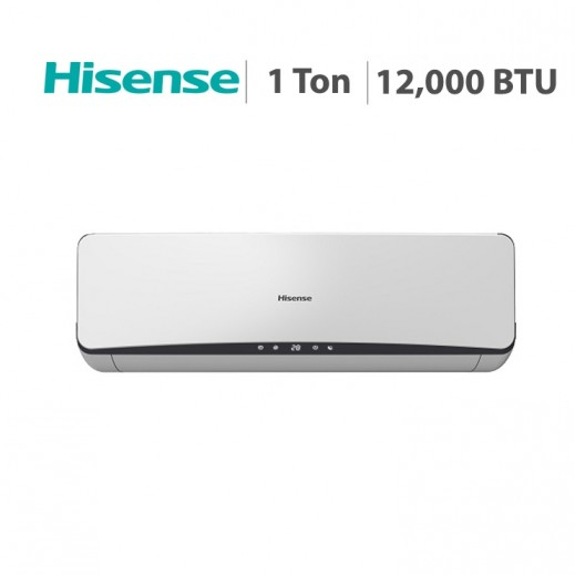 Hisense – مكيف هواء سبليت 1 طن 12,000 BTU  – أبيض  - يتم التوصيل بواسطة AL ANDALUS