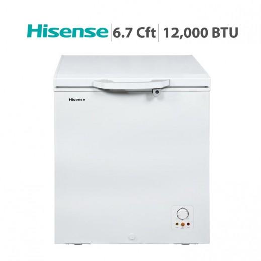 هايسنس – فريزر أفقي 190 لتر 6.7 قدم – أبيض - يتم التوصيل بواسطة AL ANDALUS