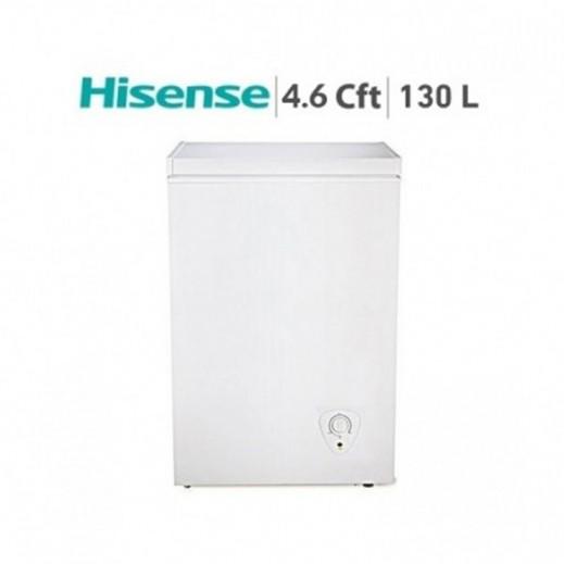 هايسنس – فريزر أفقي 130 لتر 4.6 قدم – أبيض - يتم التوصيل بواسطة AL ANDALUS TRADING COMPANY