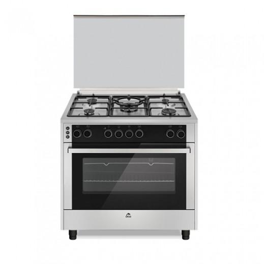 اوركا – طباخ غاز 5 شعلة 90×60 سم –  فضي - يتم التوصيل بواسطة  AL-YOUSIFI CO.