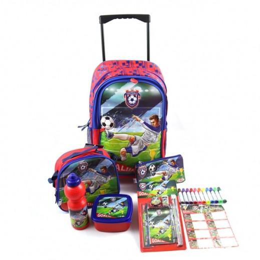 فوتبال – حقيبة مدرسية ترولي  طقم 25 × 1