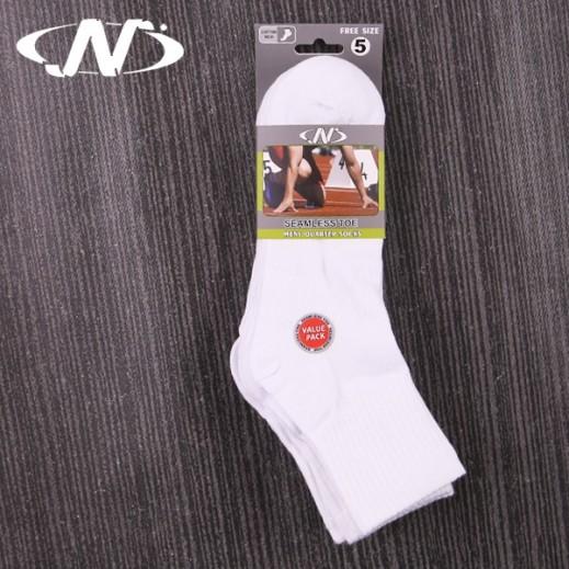 إن سبورت – جوارب رجالي كاجوال Kwns9905 لون أبيض – 5 أزواج