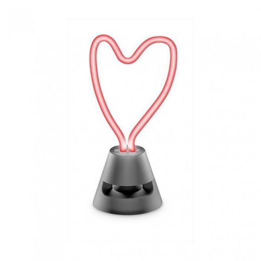 سيليولار لاين - مكبر صوت بلوتوث نيون LED - احمر