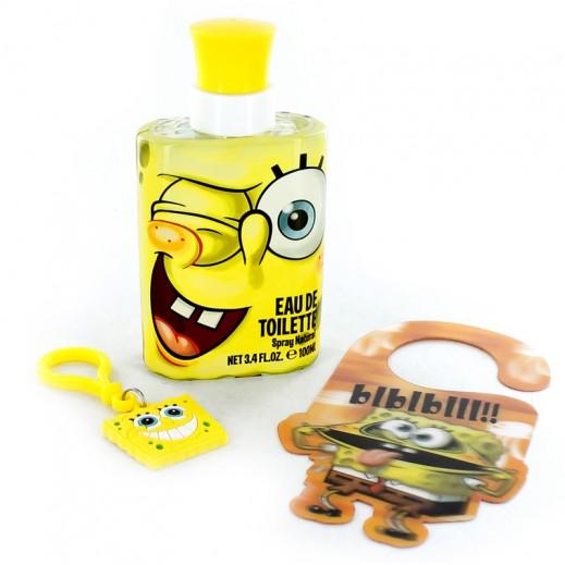 سبونجبوب – طقم عطر للأطفال 100 مل + حلقة مفاتيح وعلاّقة للباب