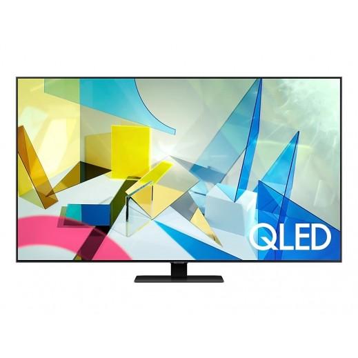 """سامسونج - تلفزيون ذكي """"Q60T"""" شاشة مسطحة قياس 50 بوصة دقة QLED 4K موديل (2020) - يتم التوصيل بواسطة AL ANDALUS بعد 3ايام عمل"""