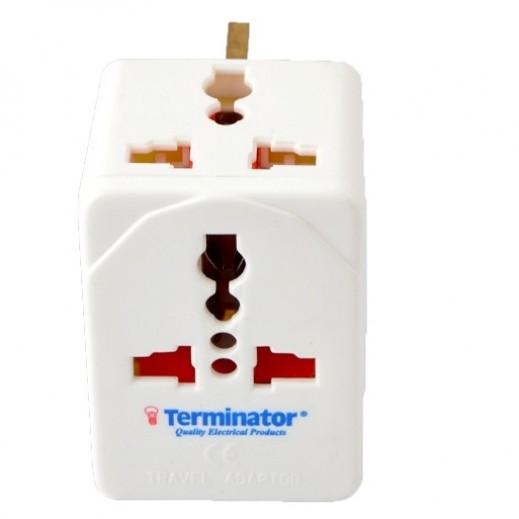 ترمونيتر - محول طاقة 3 مخارج - ابيض