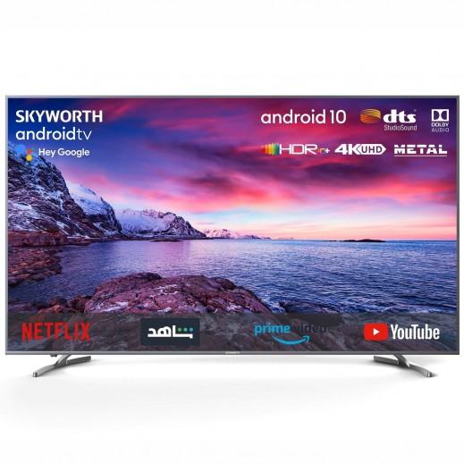 سكايورث - تلفزيون ذكي 4K 75 بوصة LED UHD - فضي - يتم التوصيل بواسطة  AL-YOUSIFI  بعد 3 ايام عمل