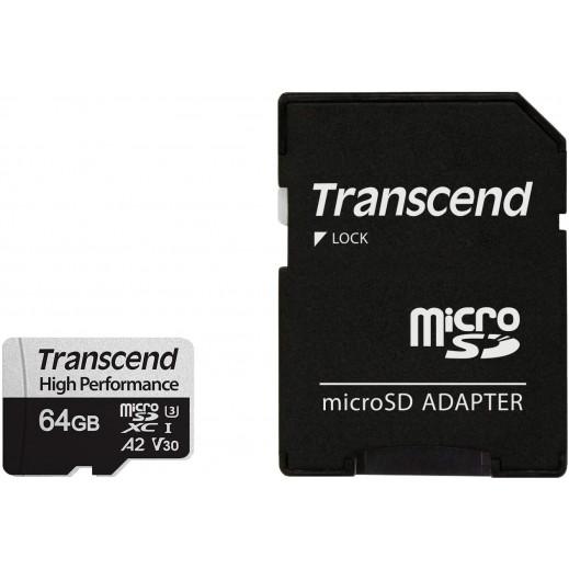 ترانسيند - بطاقة ذاكرة ميكرو SDXC سعة 64 جيجا