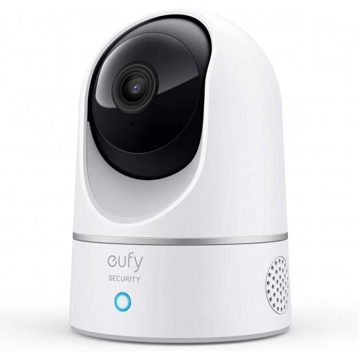 Eufy - كميرا داخلية برؤية 360 درجة بدقة 2K - أبيض