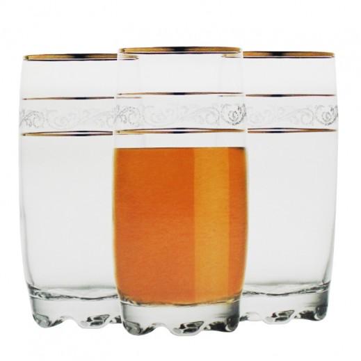 جورالار سلطان – طقم أكواب زجاجية للعصير  190 مل 6 حبة