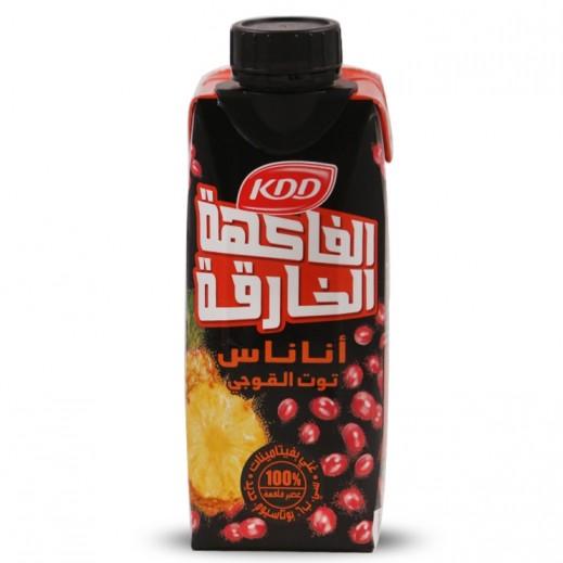 كي دي دي - عصير باور فروت (نكهة الأناناس وتوت جوجي) 250 مل
