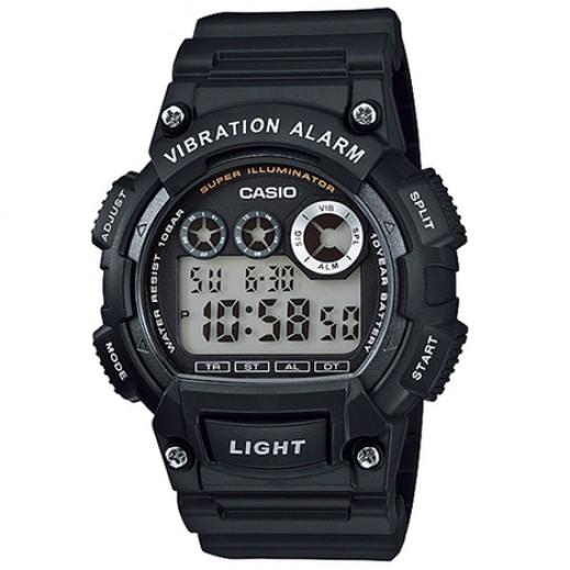 كاسيو - ساعة يد ستاندرد رقمية رجالي بسوار أسود راتنج - يتم التوصيل بواسطة Veerup General Trading