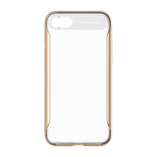 باسيوس – غطاء خلفي شفاف لآيفون 7 Plus – ذهبي
