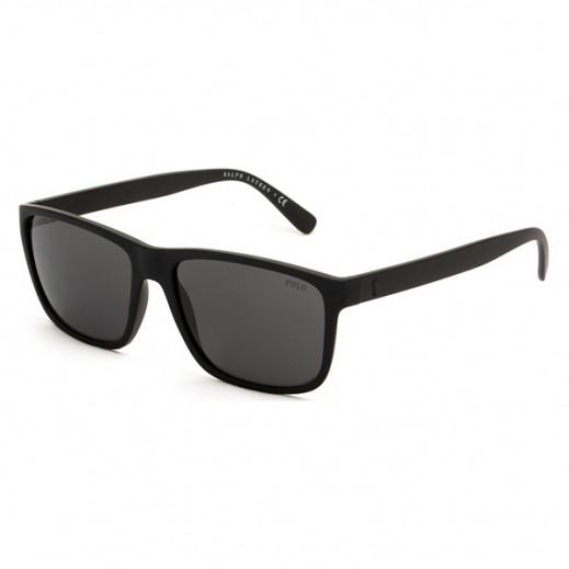 a2aad13dd اشتري بولو – نظارة شمسية للرجال لون أسود/ رمادي قاتم مقاس 57 ملم موديل ...