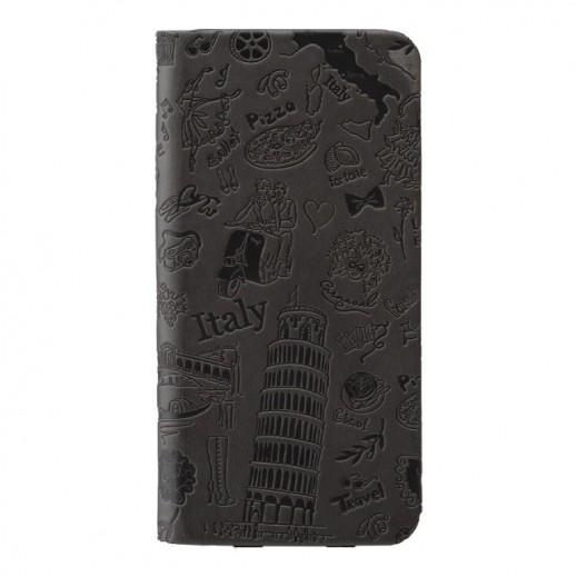 غطاء OZAKI FOLIO جلد مع جيبين لأيفون 6 روما