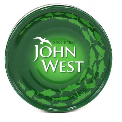 جون ويست - لحم تونة أبيض في زيت الزيتون 160 جم