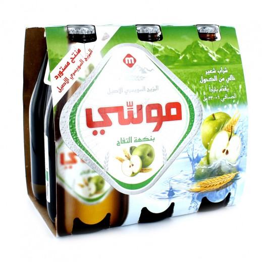 موسي - شراب شعير بنكهة التفاح - كرتون 6 حبة × 330 مل