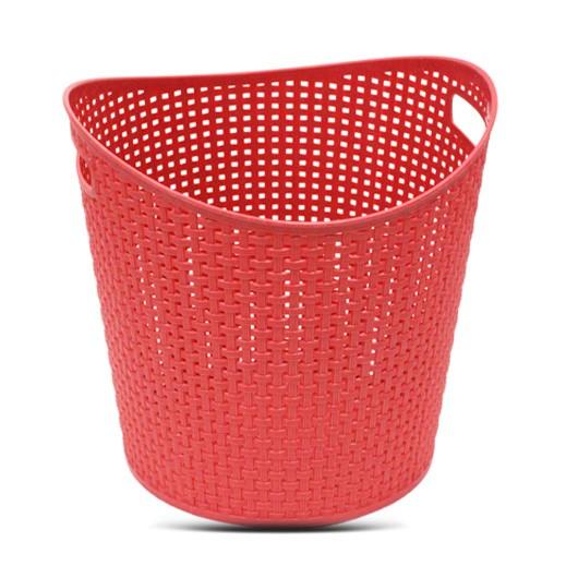 سلة غسيل بلاستيك متوسطة – أحمر