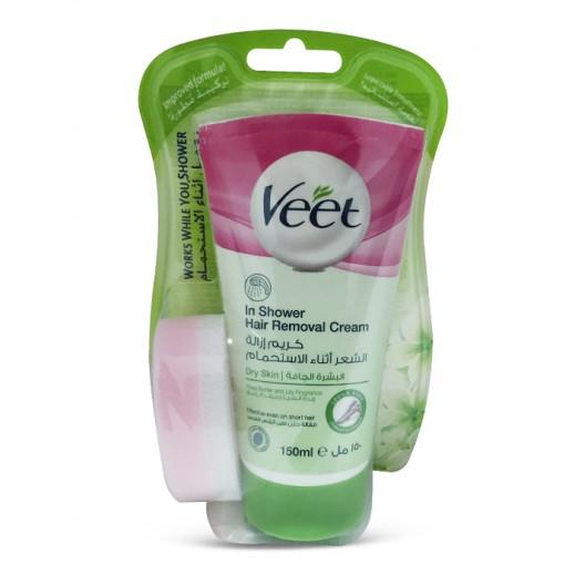 فيت - كريم إزالة الشعر أثناء الإستحمام للبشرة الجافة - 150 مل