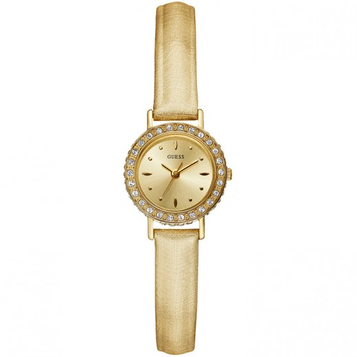 جيس - ساعة إلايت للنساء بحزام جلد ذهبي - يتم التوصيل بواسطة التوصيل بعد 3 أيام عمل بواسطة بيضون