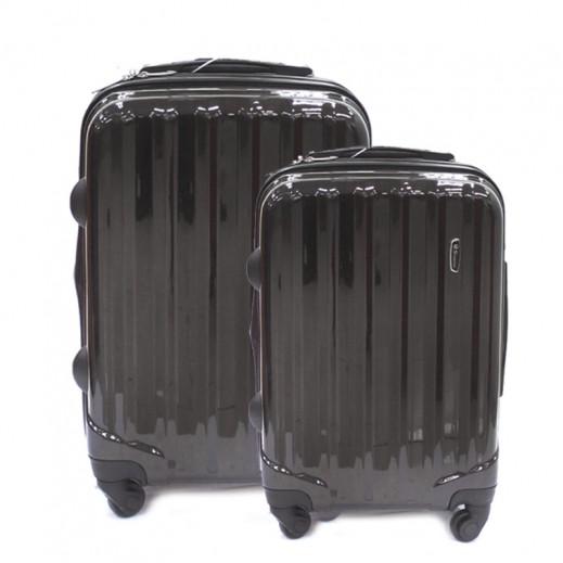 سكوربيو – طقم حقائب سفر ترولي 2 حبة (50 + 76 سم) – أسود